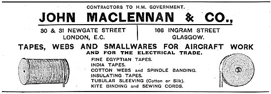 John Maclennan & Co.  Aircraft Tapes, Webs & Smallwares