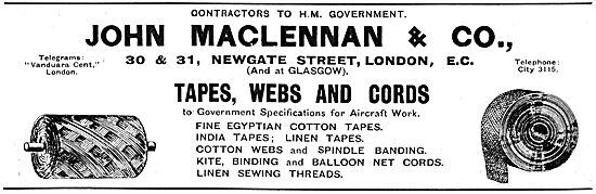 John Maclennan & Co.  Aircraft Tapes, Webs & Cords