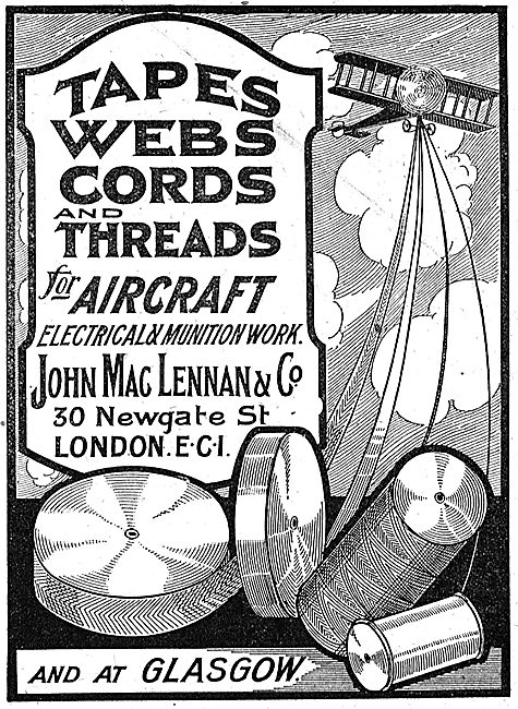 MacLennan Tapes, Webs & Cords For Aircraft Munition Work