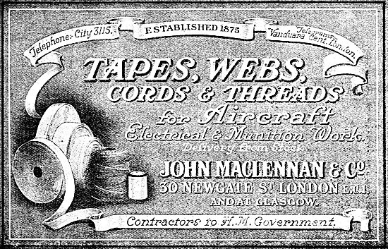 MacLennan's Tapes, Cords & Threads For Aircraft
