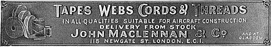 MacLennan's Aeroplane Tapes & Cords