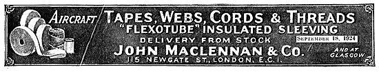 John Maclennan Aeroplane Tapes & Cords