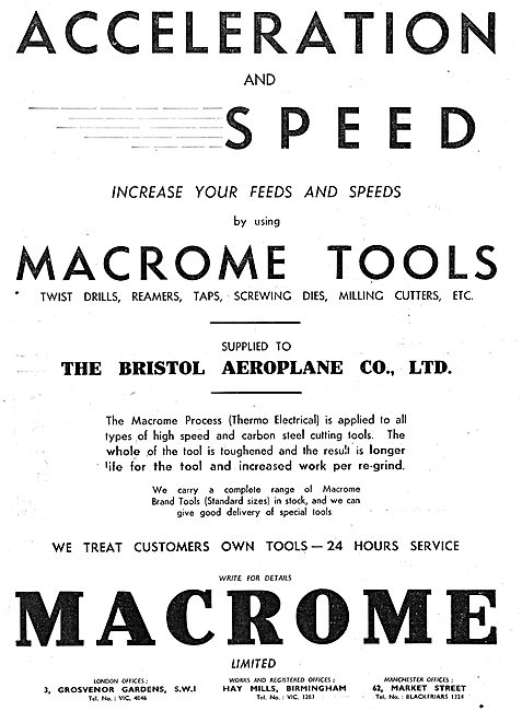 Macrome Treatment For Machine Tools