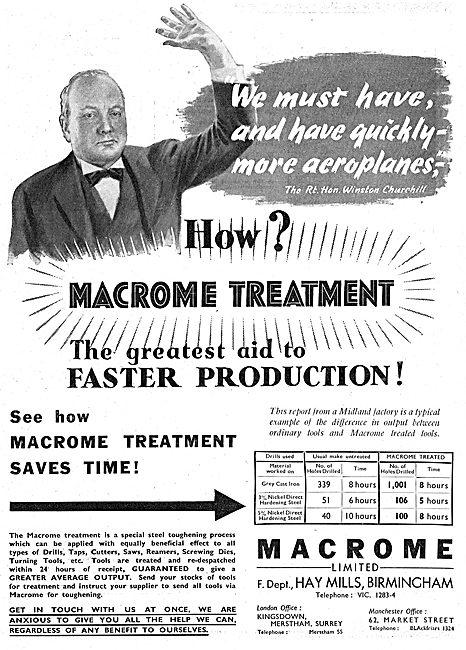 Macrome Metal Treatments For Machine Tools