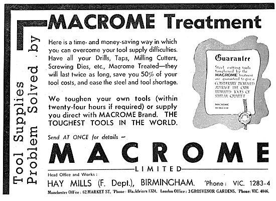 Macrome Metal Treatments For Machine & Hand Tools