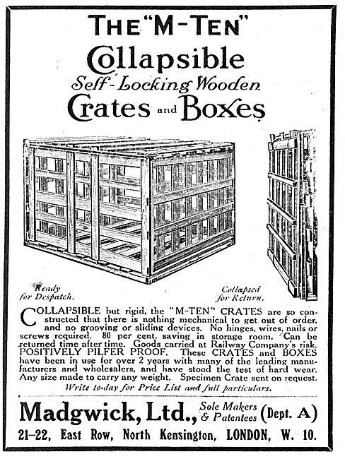 Madgwick Ltd - M-Ten Collapsible Self Locking Packing Crates