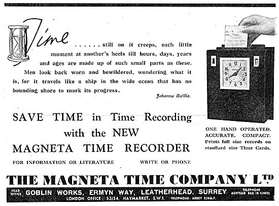 The Magenta Time Company. Magenta Time Recorder