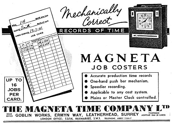 The Magenta Time Company. Magenta Job Coster