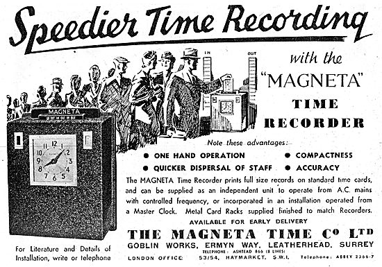 The Magenta Time Company. Magneta Time Recorder