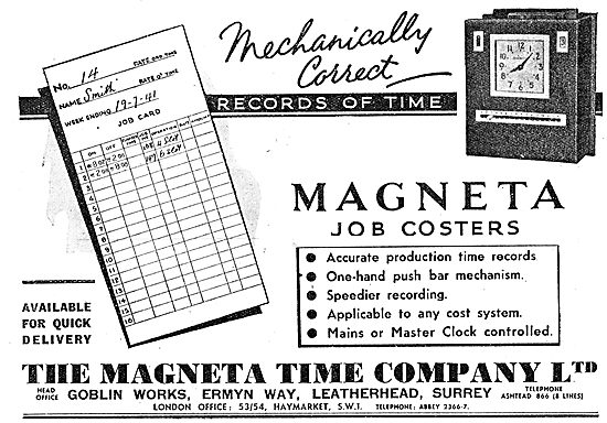 The Magenta Time Company - Magenta Factory Job Coster 1943
