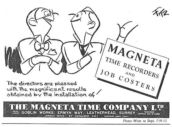Magenta Time Recorders & Job Costing Equipment.
