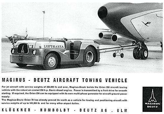 Magirus Deutz Aircraft Tugs - Magirus Deutz Orion 250 Tug
