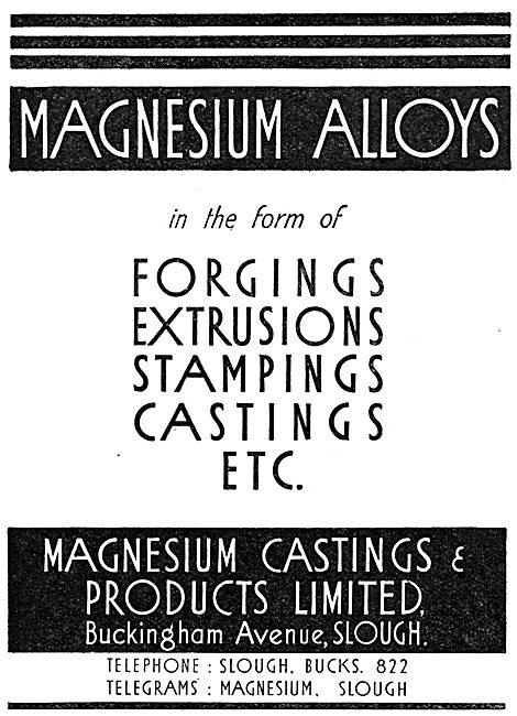 Magnesium Castings & Products. Slough