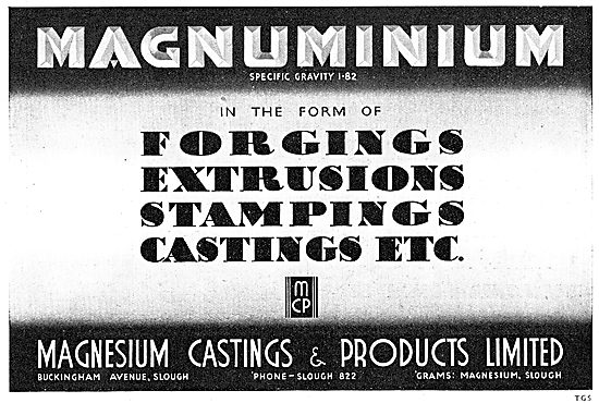 Magnesium Castings - Forgings, Extrusions & Stampings