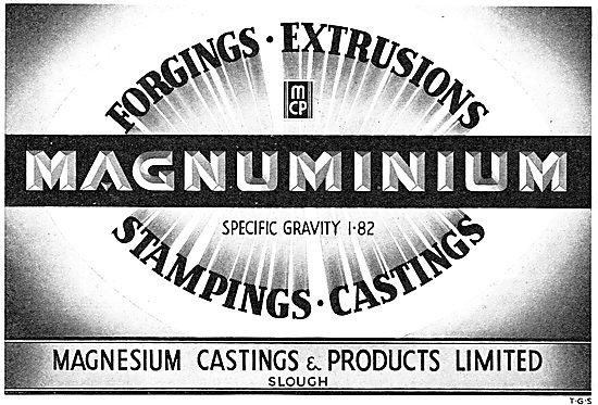 Magnesium Castings Ltd. Slough. For Aircraft Castings & Stampings