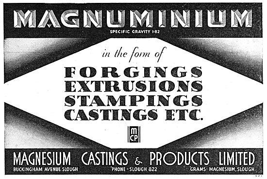 Magnesium Castings Ltd: Aero Forgings, Extrusions & Castings