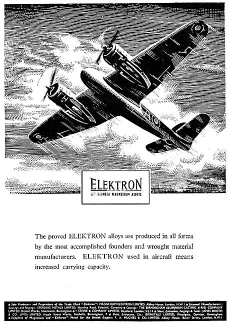 Magnesium Elektron Alloys 1944