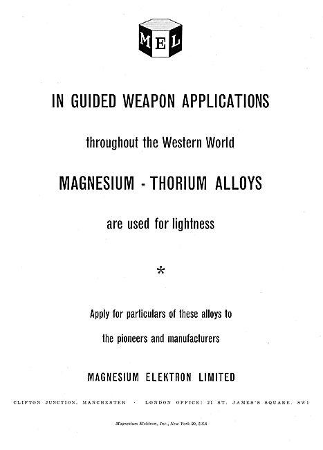 Magnesium Elektron. Magnesium Thorium Alloys