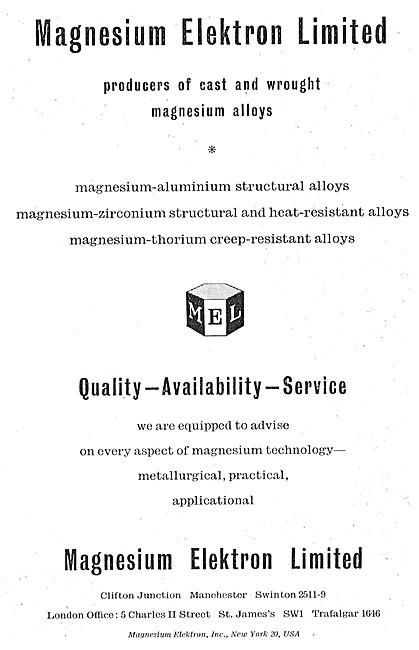 Magnesium Elektron. Cast & Wrought Magnesium Alloys