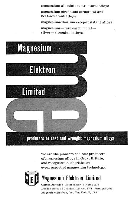 Magnesium Elektron Cast & Wrought Magnesuim Alloys