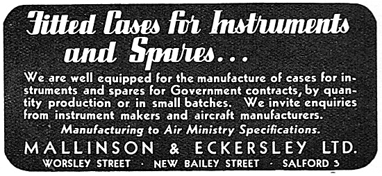 Mallinson & Eckersley - Precision Wooden Parts For Aircraft