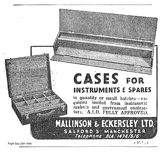 Mallinson Eckersley Cases For Instrument Spares