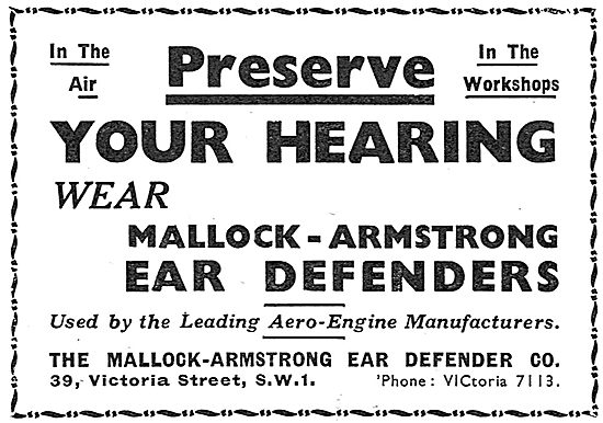 Mallock Armstrong Ear Defenders - For Air Or Workshop Use