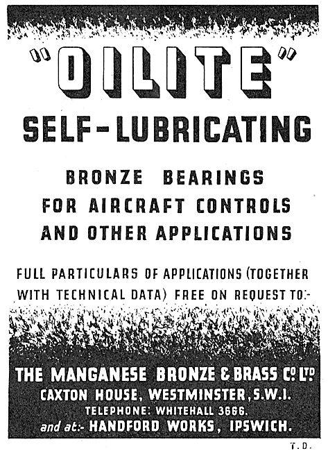 Managanese Bronze & Brass Co - Oilite Self Lubricating Bearings