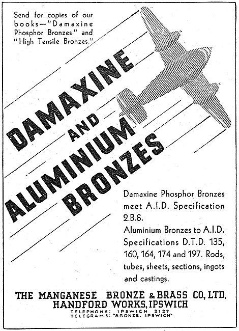 Managanese Bronze & Brass Co - Damaxine & Aluminium Bronzes