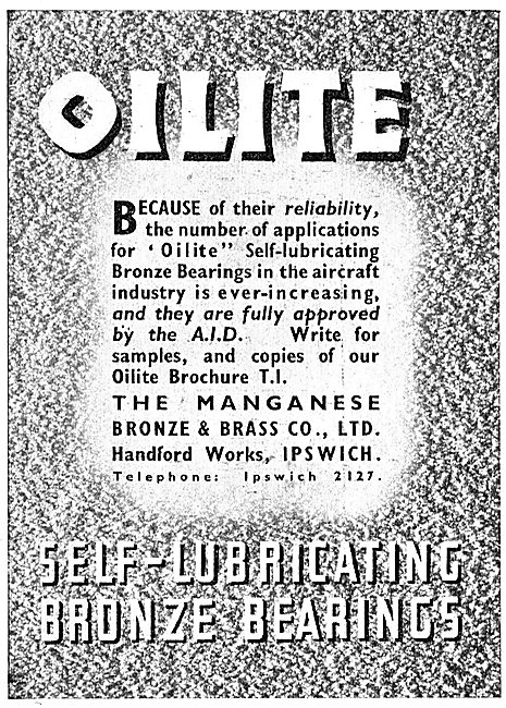 Managanese Bronze & Brass Co - Oilite Self Lubricating Bearings