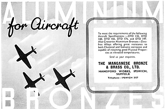 Managanese Bronze & Brass Co - Aluminium & Bronze For Aircraft