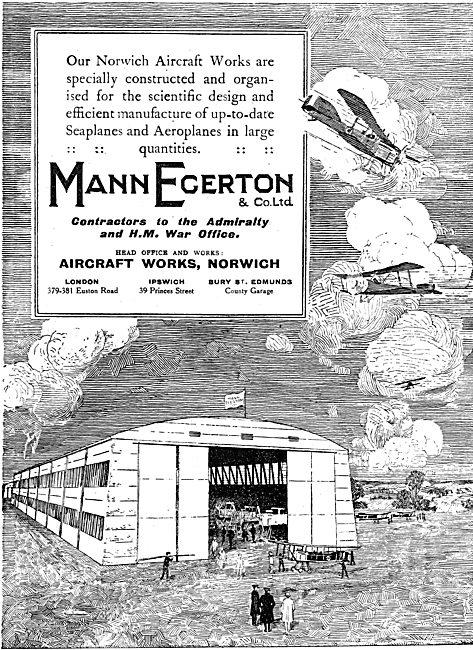 Mann Egerton Manufacturers Of Seaplanes & Aeroplanes
