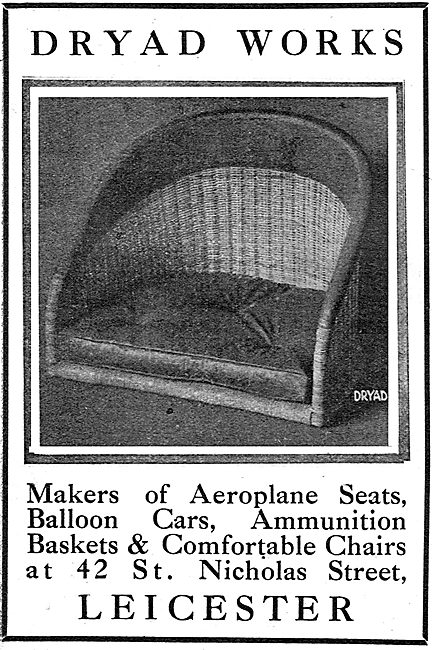 Dryad Works, Nicholas St Leicester. Makers Of Aeroplane Seats
