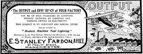 E.Stanley Fardon - Electrical Contractors. Aircraft Factories