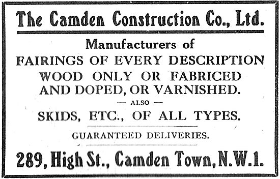 The Camden Construction Co. Manufacturers Of Aircraft Components