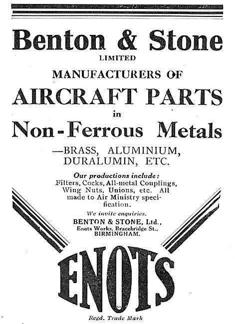 Benton & Stone Ltd. Enots Works, Bracebridge St, Birmingham
