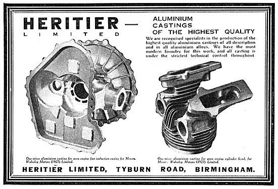 Heritier Ltd. Tyburn Rd. Birmingham. Aluminium Castings