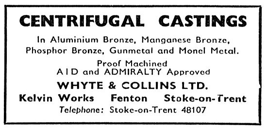 Whyte & Collins. Stoke-On-Trent. Castings & Machining