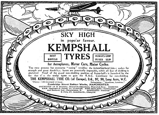 The Kempshall Tyre Co - Aeroplane Tyre Manufacturers