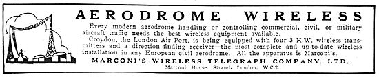 Marconi Wireless For Modern Aerodromes