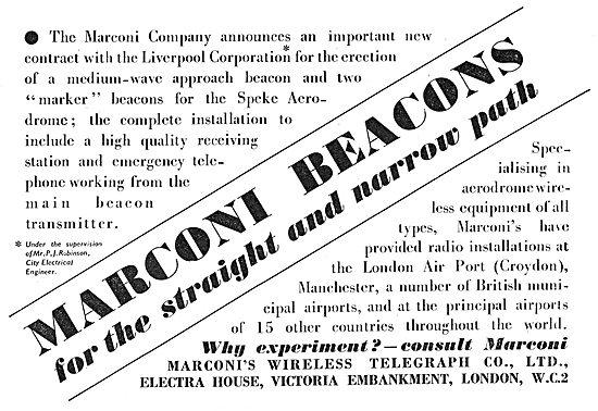 Marconi Airfield Navigation Equipment - Speke - MW Beacons