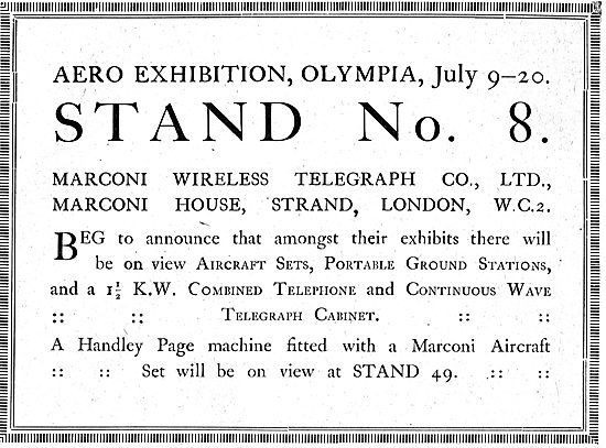 Marconi Aircraft Wireless Sets