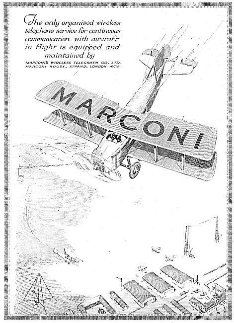 Marconi Wireless Telephone Service For Aircraft