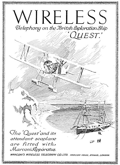 Marconis Wireless Telephony Used On The Brtish Ship 'Quest'.