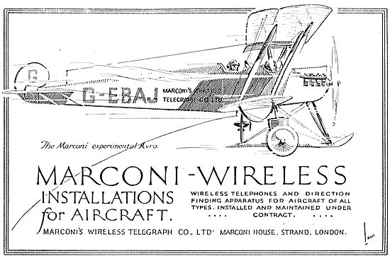 Marconi Wireless Installations For Aircraft. G-EBAJ