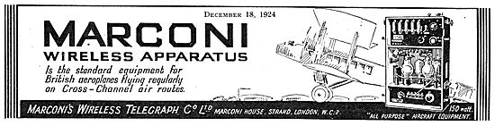 Marconi Wireless Apparatus For Aircraft
