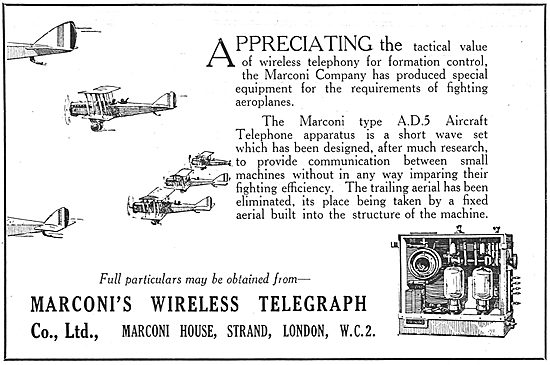 Marconi Wireless Telephony For Aircraft
