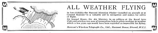 Marconi Wireless Aids All Weather Flying