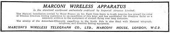 Marconis Wireless Apparatus Standard On Imperial Airways Flights