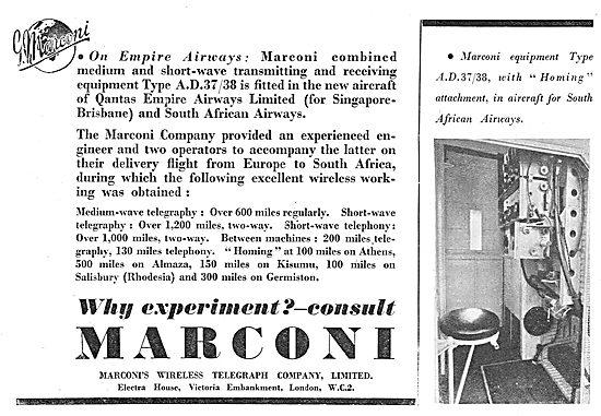 Marconi AD37/38 Qantas Empire Airways